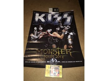 Kiss - Monster turnen Australien Merch enbart ,lite vågig men går att platta ut