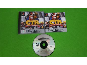 Crash Team Racing KOMPLETT SVENSK UTGÅVA Playstation ps1 psx ctr