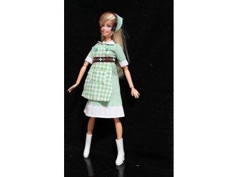 Passar Barbie Klänning t docka GRÖN Dockklännin.. (410148028