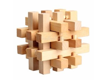 IQ Pussel Trä Chinese Traditional Wooden Puzzle Toy