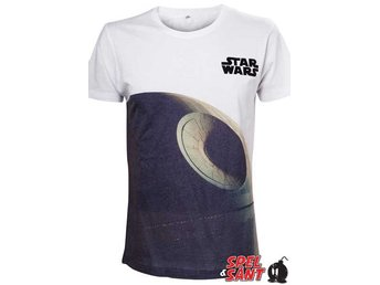 Star Wars Death Star T-shirt Vit (Large)