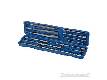 SDS Plus SDS+ Masonry Drill & Steel Chisel Set 12pce Breaker SDS PLUS