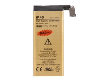 iPhone 4G Gold Business Batteri 2680mAh