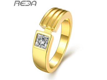 Quality 24K Yellow Gold Plated Men Imitation Ring Hot Items Male 2016