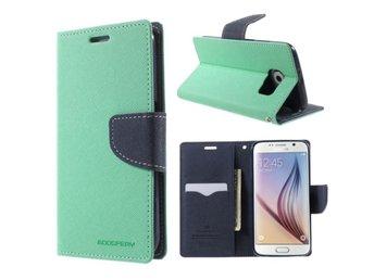 Samsung Galaxy S6 - Plånboksfodral -Mercury-Goospery -Turkos på 70114ecc47e9e