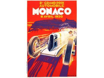MONACO GRAND PRIX 1930 & 1931 EXTREM ART DÉCO Motorsport race 2 x A2 posters - Helsingborg - MONACO GRAND PRIX 1930 & 1931 EXTREM ART DÉCO Motorsport race 2 x A2 posters - Helsingborg