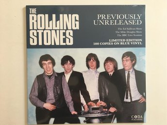 The Rolling Stones ‎– Previously Unreleased - Blå vinyl NY/OÖPPNAD