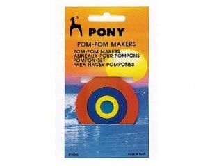 Pompom makers 3pack plast från Pony