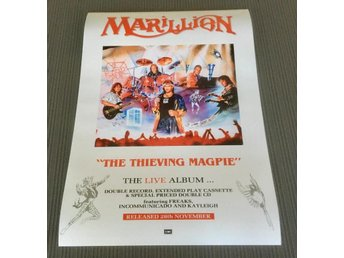MARILLION THE THIEVING MAGPIE 1988 PHOTO POSTER