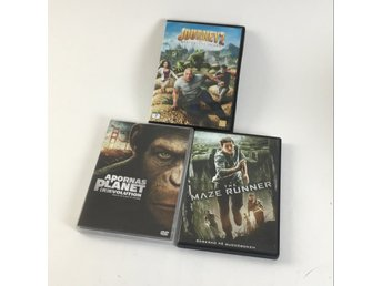 20th Century Fox, DVD-Samling, Apornas planet, Maze Runner, Journey 2