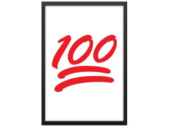 Affisch Poster Emoji Keep it 100 33x48