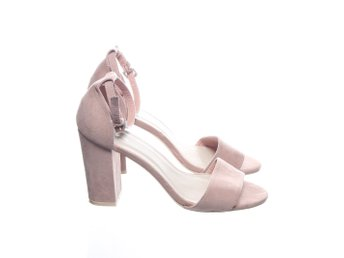 NLY Shoes, Klackskor, Strl: 39, Rosa, Mockaimitation