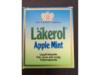 Tablettask LÄKEROL APPLE MINT 70-80 tal