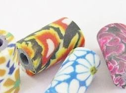 Polymer Clay Beads TUBER - 10 st
