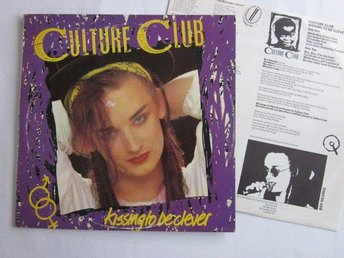 Culture Club -Kissing to be clever lp Boy George Finnish pre