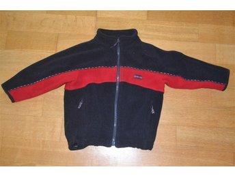 Fin fleecetröja i marinblått/rött från Fix stl.104 - Katrineholm - Fin fleecetröja i marinblått/rött från Fix stl.104 - Katrineholm