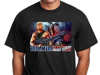 Trump USA Hero T-shirt med design - American Way : XXL