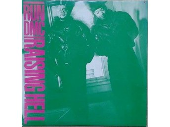 Run DMC title* Raising Hell* Hip-Hop 80's Golen LP US Green / Blue