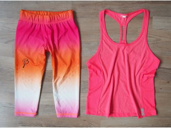 Sport Set - Björn Daehlie tights + Under Armour linne rosa ombre fitness XS S