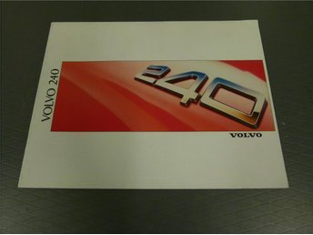 Volvo broschyr: Volvo 240 - 1988 - Norrtälje - Volvo broschyr: Volvo 240 - 1988 - Norrtälje