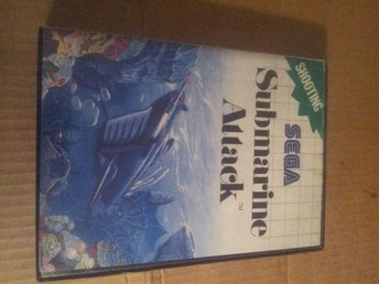 submarine attack sega mastersystem i box ej manual
