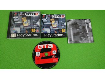 Grand Theft Auto 2 KOMPLETT MED KARTAN GTA 2 Playstation PSone ps1