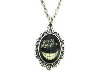 Choker We´re all mad here - Alice I Underlandet Silver