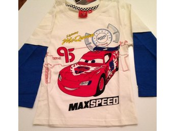 Disney Cars Bilar T-shirt 122 vit
