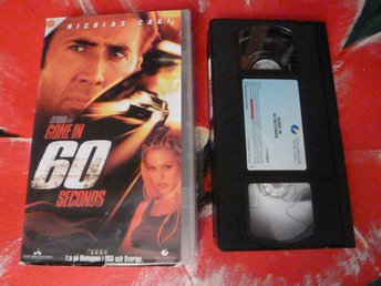 GO IN 60 SECONDS, VHS, ACTION, FILM