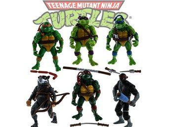 TMNT Teenage Mutant Ninja Turtles 6 st Figurer Deluxe Set 2017