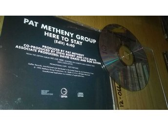 Pat Metheny Group - Here To Stay, CD, single, promo, rare!