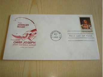 American Indian Chief Joseph 1968 USA förstadagsbrev