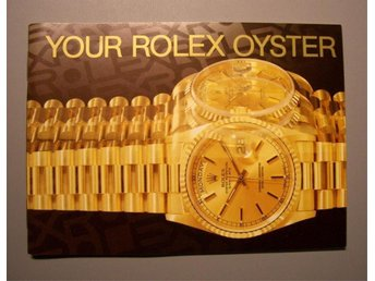 ROLEX häfte -  Your Rolex Oyster booklet
