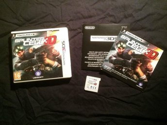 TOM CLANCYS SPLINTER CELL 3D  NINTENDO 3DS UBISOFT
