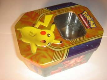 NY TOM POKEMON ORGINAL PLÅT BOX  PIKACHU   TIN