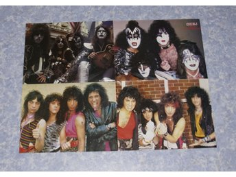 KISS POSTER * POSTER  KISS FOUR LINE UP POSTER * BAKSIDA BOY GEORGE