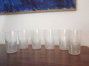6 glas selerglas diamantmönster