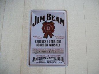 Plåtskylt, jim beam, whiskey. whisky, bar, restaurang - Jönköping - Plåtskylt, jim beam, whiskey. whisky, bar, restaurang - Jönköping