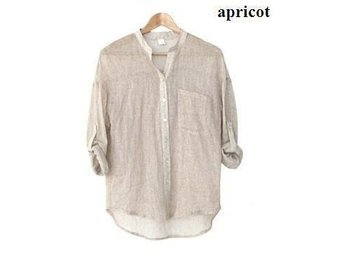 Womens linne skjorta apricot size L - Beijing - Womens linne skjorta apricot size L - Beijing