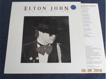 ELTON JOHN - Ice on fire, LP Rocket Record Holland 1985