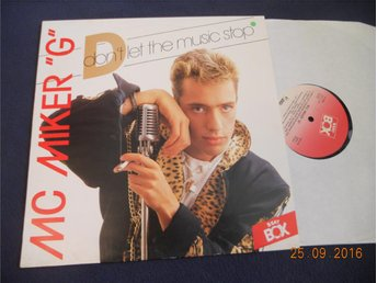"MC MIKER ""G"" - Don't let the music stop, Beat Box 12"" Singel 1987"