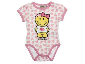 Body med Smiley Baby Stl: 9-12 mån = 74/80