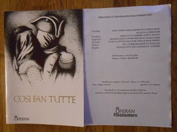 Program Cosi Fan Tutte