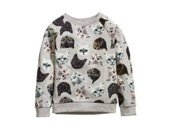 Sweatshirts tröja m katter katt, stl 146/152, HM -NY- - Piteå - Sweatshirts tröja m katter katt, stl 146/152, HM -NY- - Piteå
