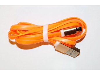 1 meter USB kabel för Android platt orange