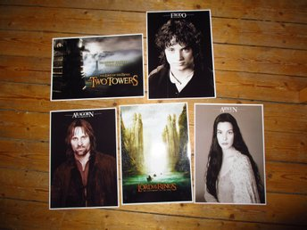 5 samla bilder - filmen LORD OF THE RINGS- TWO TOWERS och FELLOWSHIP OF THE RING