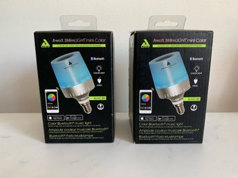 2-st StriimLIGHT Mini Color E14 Led Lampa med en inbyggd 3W-högtalare