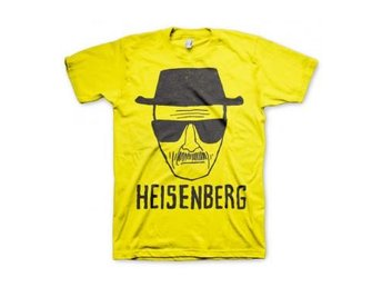 Breaking Bad T-shirt Heisenberg Sketch Gul XL