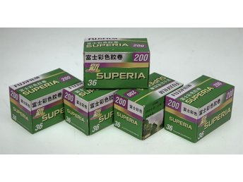 5 Rolls of Fujifilm135-36 200 Colour Negative Film, out of date 2012 kept cool