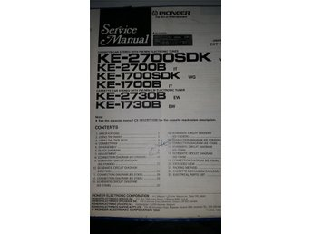 Pioneer KE-2700 SDK Orginal Service manual